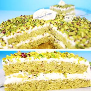 Gâteau nougat pistache